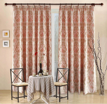 ALLBRIGHT yellow and red jacquard fabric curtains and drapes for sale