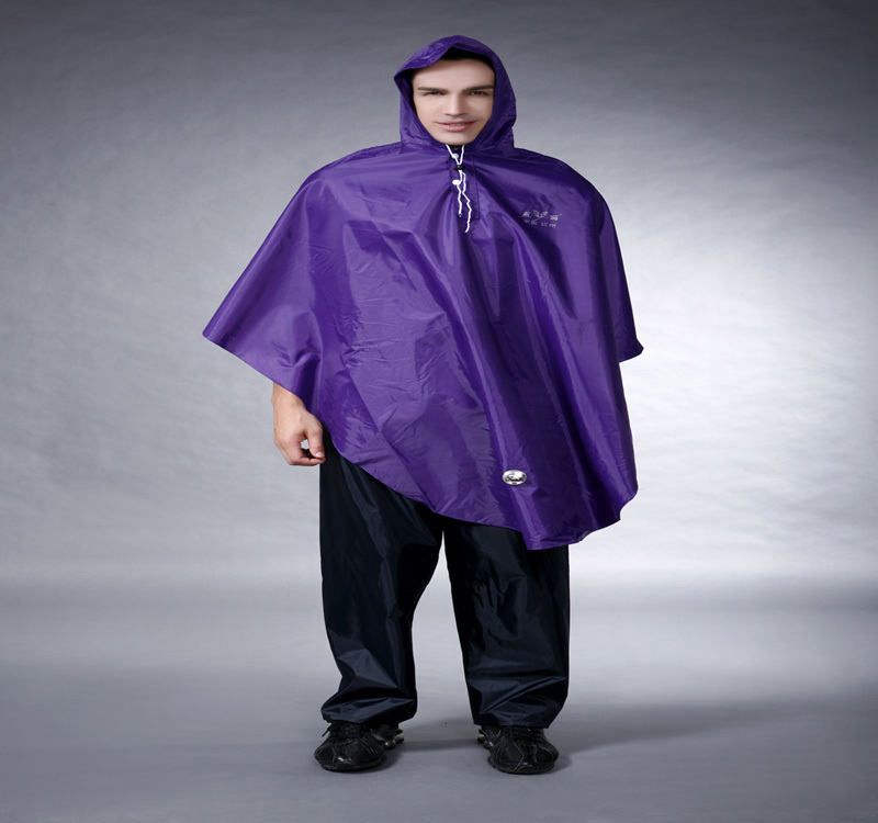 Durable oxford pvc bicycle rain poncho with logo