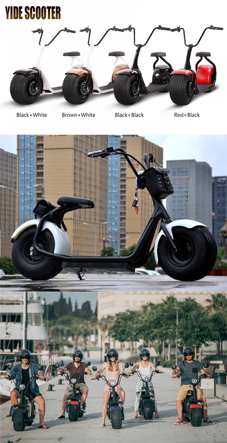 Electric Chariot Off Road Chinese Electrical Scooter 1500W Citycoco Scooter