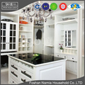 Foshan Narnia white color PVC custom wooden walk in closet