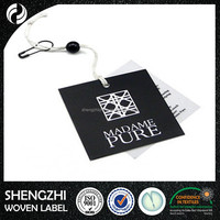 High quality promotional personalized paper hangtags for jeans