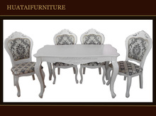 Solid wood dining table set /antique white dining room furniture sets/Dining Room Furniture