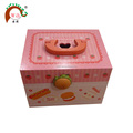 strawberry wood hamburger case set toy