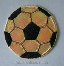 high quality small embroidery football patches for hat