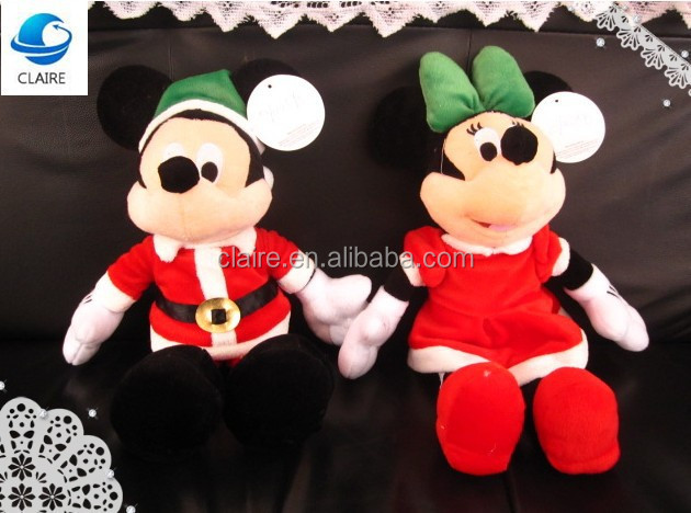 Lovely Christmas Mickey and Minnie Mouse Plush Toy