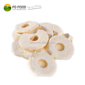 Wholesale camping foods convenience dried snacks freeze-dried apple rings