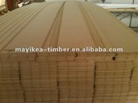 CARB P2 MDF BEADBOARD/pvc coated mdf moulding frofiles/wainscot