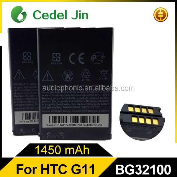 For HTC 1230mah 3.7v G11 replacement original Desire Z A7272 battery