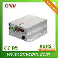 1 Channel Video Broadcasting Fiber Optic Transmitter and Receiver for banking ethernet system