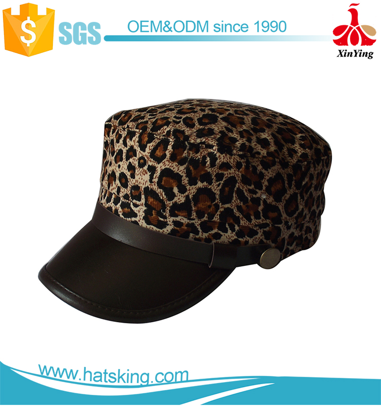 High quality design your own women military style caps