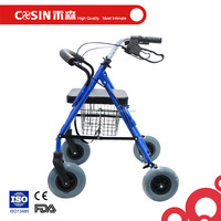 elderly lightweight foldable rollator walker with wheels