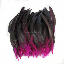 garment hats hair and party decoration 12-14inches Dyed Rooster tail feathers