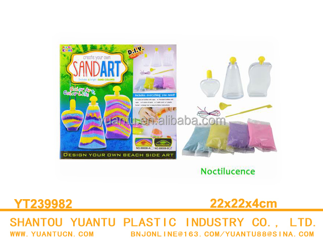 Top sale intelligent diy glow sand art toys for kids