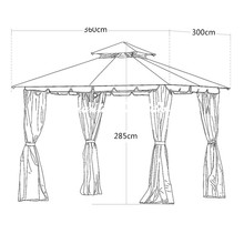 Roman Style Featured Customised Size Tents for Wedding/Business Promotion/Event/Meeting