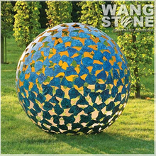 Stainless Steel Large Hollow Metal Ball Garden Ornament
