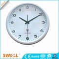 Office Red Wall Clock With Temperature