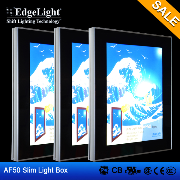Edgelight AF50 aluminous frame waterproof outdoor advertising led display Slim Light Box display