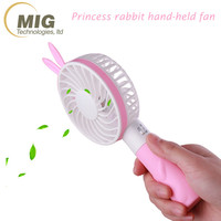 Portable USB Mini Fan Motor Better for Outdoor Sports cute rabbit ears handheld mini powerful electric fans