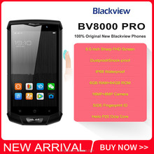 "Blackview BV8000 Pro IP68 Waterproof Cellphone MTK6757V Octa Core Android 7.0 Mobile Phone 5.0"" FHD 6GB RAM 64GB ROM 4000mAh NFC"