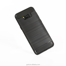 Factory wholesale Brush Carbon Fiber Pattern TPU Mobile Phone Case for vivo y71 y83 v9 plus