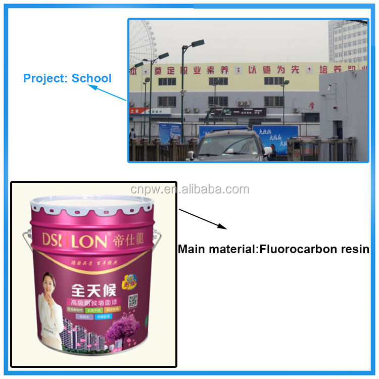 Durable fluorocarbon weather resistant oil based anti corrosion wall waterproof paint