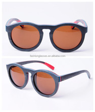 Bamboo products from lonsye eyewear China, can custom any model and free custom logo, fashion skate wooden sunglasses GA006-1