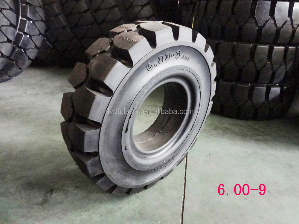 Manufacturer of price 6.00-9 forklift tyre solid tyre beat quality OEM for Double Coin