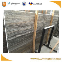 Factory direct offer classic silver grey stone travertine