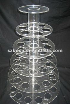 Round and Clear Acrylic Biscuits Stand/Donut Holder/Pastry Display