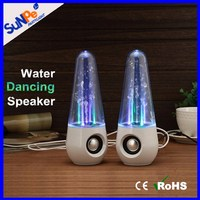Bluetooth Optional Round/Tower Speakers with LED Dancing Water Lights