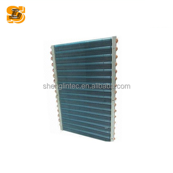 China homemade copper finned tube air cooler condenser coils for cabinet
