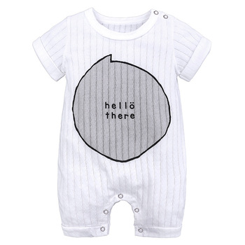 Baby rompers 100% Cotton Infant Body Short Sleeve Clothing baby Jumpsuit Cartoon Printed Baby Boy Girl clothes