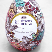 Metal Egg Shaped Candy Storage Tin