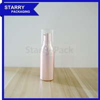 Wholesale pink cosmetic packaging round airless foundation bottle with pump
