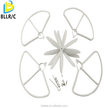 BLLRC 4 pcs three bladed propeller+4pcs protection cover for Hubsan H501S four-axis aircraft spare parts white