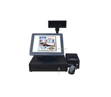 Touch Screen POS Electronic Cash Register For Supermarket