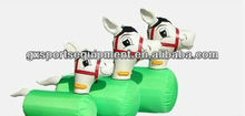 small size inflatable pony hop,inflatable hop horse,Inflatable air tight pony hop/horse for kids