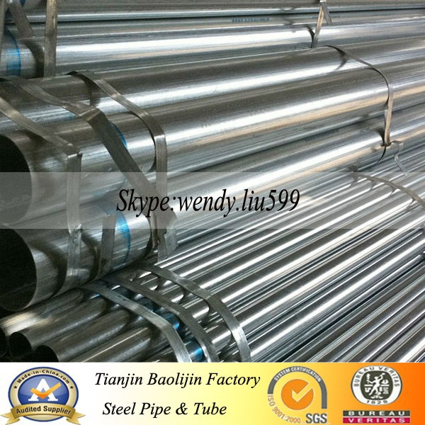 thread and coupled hot galvanized steel pipe
