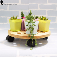 Wholesale Wooden Flower Pot Trays With