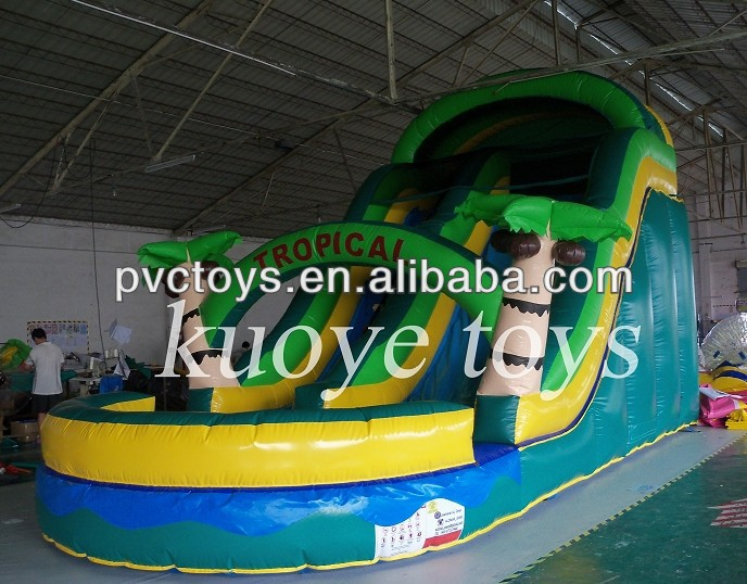 jungle inflatable children's pool with <strong>slide</strong>