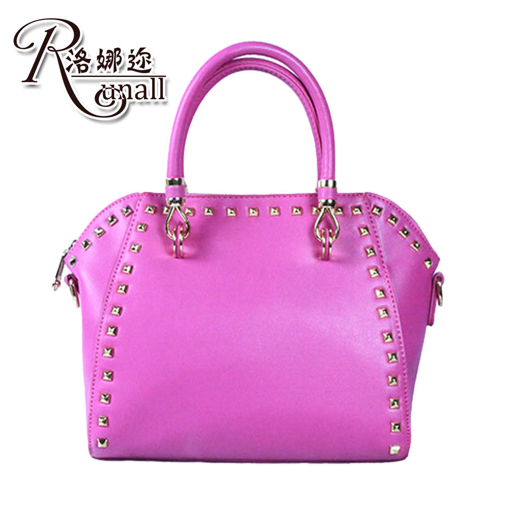 The new spring and summer 2015 fashion rivet female bag One shoulder his bag ladies handbags