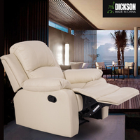 Dickson white gorgeous and noble high class fabric sofa