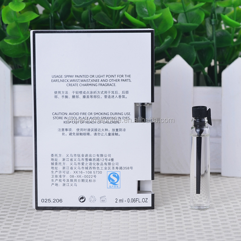 Various Customized Authentic Perfume Fragrance&Tester Fragrance Perfume With Card Packaging