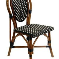 French Bistro Chairs Rattan For Cafe