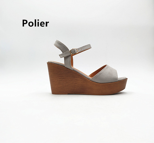 Polier Classic style Ladies  Comfort Sandals  Wholesale Ladies High Heel Wedge Fashionable women sandals shoes