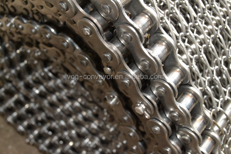 best price metal/stainless steel wire conveyor belt mesh with chain