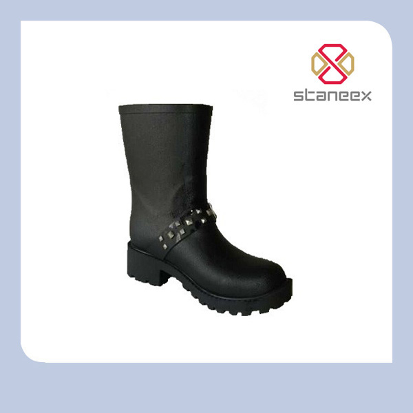 2015 New Style Fashion Hot Selling Woman Sex Horse Riding Rain Boots Wellies Wellington Boots