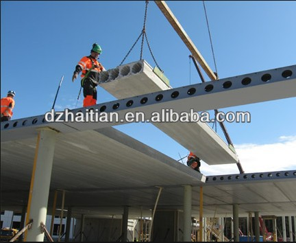 cement board making machine/roof slab extruder/concrete slab machine