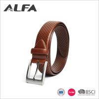 Alfa Wholesales Custom Fashion Design Brown Black Pure Genuine Leather Belt Men