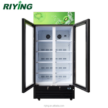 488L Commercial Beverage Vertical Display Cabinet Refrigerator with Double Glass Door